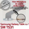 Samsung Galaxy SM-T531 TAB4 Ch Nappe Contacts 4 MicroUSB ORIGINAL TAB SM OFFICIELLE T531 de Réparation Charge Dorés Qualité Connecteur Chargeur