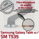 Samsung Galaxy SM-T535 TAB4 Ch Dorés ORIGINAL MicroUSB de 4 Nappe Charge Contacts Qualité Connecteur T535 OFFICIELLE Chargeur SM TAB Réparation