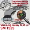 SM-T535 Micro USB TAB4 Charge SM Qualité OFFICIELLE ORIGINAL Contacts Chargeur Connecteur de Dorés MicroUSB TAB Samsung T535 Nappe 4 Galaxy Réparation