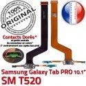 Samsung Galaxy TAB PRO SM-T520 C ORIGINAL Chargeur SM de Réparation Nappe MicroUSB Connecteur Contacts OFFICIELLE T520 Charge Doré Qualité