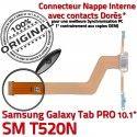 Samsung Galaxy SM-T520NC TAB PRO Qualité Chargeur Réparation de Doré Charge Nappe Connecteur SM T520N MicroUSB OFFICIELLE ORIGINAL Contact