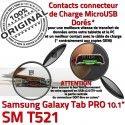 Samsung Galaxy TAB PRO SM-T521 C T521 Réparation Qualité de ORIGINAL Chargeur Doré MicroUSB OFFICIELLE Contact Connecteur SM Nappe Charge
