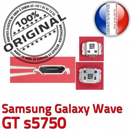 Samsung Galaxy Wave GT s5750 C de Flex Dock charge Connector Prise souder Connecteur Dorés Chargeur Micro USB Pins ORIGINAL à