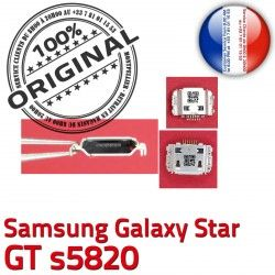 Connector Flex GT Prise de Dock s5820 C Chargeur Galaxy souder Pins à charge ORIGINAL Dorés USB Star Micro Samsung Connecteur