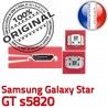 Samsung Galaxy Star GT s5820 C Pins USB Prise de à Connector ORIGINAL Dorés Micro souder Flex Dock Connecteur charge Chargeur