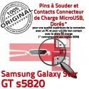 Samsung Galaxy Star GT s5820 C Dock ORIGINAL Micro charge Flex à USB Prise souder Connecteur Dorés Pins Connector de Chargeur
