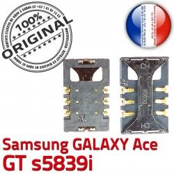 Connector S Prise Samsung Galaxy ORIGINAL Pins GT Carte souder SIM Connecteur SLOT Ace Lecteur à Reader Card Contacts Dorés s5839i