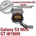 Samsung Galaxy S3 GT i8190N µSD Memoire Read Carte Micro-SD Connector ORIGINAL Contact Qualité Lecteur Nappe Doré Connecteur SD Mini