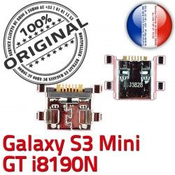 ORIGINAL GT Mini Samsung C Connecteur USB Flex S3 à charge souder Dock i8190N Chargeur Galaxy Prise Micro de Dorés Pins Connector