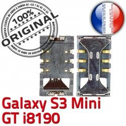 ORIGINAL SIM Pins i8190 Reader Lecteur Samsung Connector Contacts souder Mini GT Min S3 Carte Connecteur Dorés Galaxy à Card S SLOT