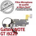 Samsung Galaxy NOTE GT i9220 C Nappe Antenne Qualité OFFICIELLE RESEAU Microphone MicroUSB ORIGINAL Prise Connecteur Charge Chargeur