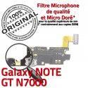 Samsung Galaxy NOTE GT N7000 C Antenne Chargeur ORIGINAL OFFICIELLE Charge Nappe Qualité RESEAU MicroUSB Prise Microphone Connecteur