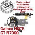 Samsung Galaxy NOTE GT N7000 C ORIGINAL Charge OFFICIELLE Prise Connecteur MicroUSB Qualité Antenne RESEAU Chargeur Microphone Nappe