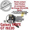 Samsung Galaxy NOTE GT i9220 C Nappe MicroUSB Microphone Qualité Antenne Prise Connecteur Charge ORIGINAL OFFICIELLE RESEAU Chargeur