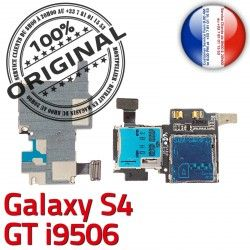 Galaxy Nappe S4 ORIGINAL Lecteur Dorés Connector i9506 Connecteur Qualité Reader Carte S Samsung GT Memoire Micro-SD Contacts SIM GT-i9506