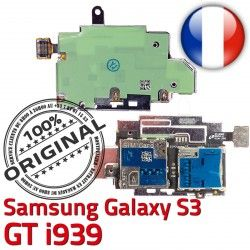 SIM Connector Reader Contacts S3 ORIGINAL Lecteur S Carte Galaxy Micro-SD Memoire Connecteur Qualité Dorés Samsung Nappe i939 GT