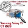 Samsung Galaxy S3 GT i939 S Qualité Connector ORIGINAL Micro-SD Lecteur Reader Contacts Connecteur Nappe Memoire Dorés SIM Carte