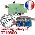 Samsung Galaxy S3 GT i9300 S Contacts Lecteur Reader SIM ORIGINAL Carte Connector Dorés Memoire Micro-SD Qualité Nappe Connecteur