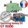 Samsung Galaxy S3 GT i9300 S Contacts Lecteur Reader SIM ORIGINAL Carte Connector Dorés Memoire Micro-SD Qualité Nappe Connecteur