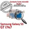 Samsung Galaxy S3 GT i747 S Connector Micro-SD Carte Dorés SIM Contacts Memoire Lecteur Connecteur Nappe Reader ORIGINAL Qualité
