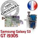Samsung Galaxy S3 GT i9305 S SIM Reader Connector ORIGINAL Carte Nappe Micro-SD Qualité Connecteur Memoire Dorés Lecteur Contacts