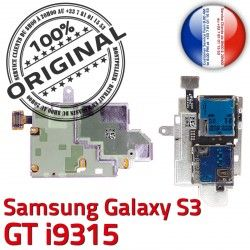Connecteur Reader Lecteur Dorés Memoire Samsung Contacts Qualité Galaxy ORIGINAL GT S Nappe i9315 Carte Micro-SD S3 SIM Connector
