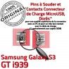 Samsung Galaxy S3 GT i939 C charge Connecteur Prise de souder Connector ORIGINAL Chargeur Dock Pins Flex Dorés USB à Micro