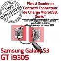 Samsung Galaxy S3 GT i9305 C Dock à Chargeur USB de Connecteur souder Micro ORIGINAL Pins Flex Dorés Connector charge Prise