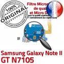 Samsung Galaxy NOTE2 GT N7105 C Microphone Qualité Nappe MicroUSB Prise Antenne RESEAU Charge Connecteur Chargeur OFFICIELLE ORIGINAL