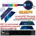 Film Protecteur Apple iPad A1566 Trempé Anti-Rayures AIR Filtre Ecran Vitre ESR Bleue Protection Verre Lumière Incassable Chocs