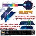 Verre Trempé Apple iPad A1460 Bleue Anti-Rayures Oléophobe ESR Protection 9H Vitre Chocs Filtre UV Ecran Multi-Touch Lumière 4