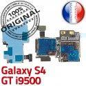 Samsung Galaxy S4 GT i9500 S Reader Connector Qualité Memoire SIM ORIGINAL Contacts Nappe Lecteur Dorés Micro-SD Connecteur Carte