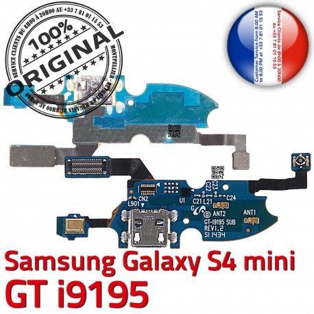Samsung Galaxy S4 Min GTi9195 C Chargeur Microphone RESEAU MicroUSB ORIGINAL 4 Nappe i9195 Antenne OFFICIELLE Connecteur Qualité Prise S Charge