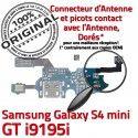Samsung Galaxy S4 Min GTi9195i C 4 Charge Prise Qualité MicroUSB Microphone Connecteur Chargeur RESEAU Antenne Nappe S ORIGINAL i9195i OFFICIELLE