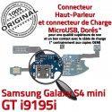 Samsung Galaxy S4 Min GTi9195i C S ORIGINAL 4 Nappe Charge Microphone Antenne Prise MicroUSB OFFICIELLE Qualité Connecteur RESEAU i9195i Chargeur