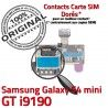 Samsung Galaxy S4 min GT i9190 S Memoire SIM Contacts ORIGINAL Nappe mini Lecteur Micro-SD Carte Reader Connector Dorés Connecteur