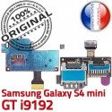 Samsung Galaxy S4 Duo GT i9192 s Mini Connecteur Doré Duos Connector Lecteur Memoire Qualité Carte Micro-SD Nappe SIM ORIGINAL Contact