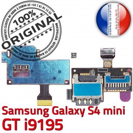 Samsung Galaxy S4 Min GT i9195 S Micro-SD Connector Memoire Qualité Doré SIM Contact Lecteur ORIGINAL Nappe Connecteur Carte Read Mini