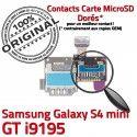Samsung Galaxy S4 Min GT i9195 S Memoire SIM Doré Mini Nappe Read Lecteur Carte Qualité Contact Micro-SD ORIGINAL Connector Connecteur