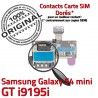 Samsung Galaxy S4 GT i9195i S Memoire Micro-SD Contact Connector i9195iLecteur Carte Qualité Nappe SIM ORIGINAL Read Doré Mini Connecteur