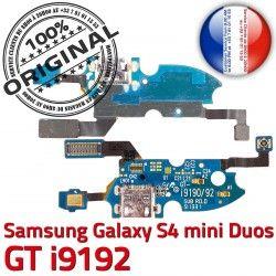 S Microphone i9192 Nappe Duos GTi9192 4 Qualité C MicroUSB OFFICIELLE S4 Duo Connecteur ORIGINAL RESEAU Galaxy Samsung Prise Chargeur GT Charge