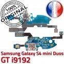 Samsung Galaxy S4 Duo GTi9192 C Connecteur Nappe Prise OFFICIELLE i9192 S ORIGINAL Qualité Microphone Chargeur RESEAU 4 Charge MicroUSB GT Duos