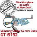 Samsung Galaxy S4 Duo GTi9192 C Prise Qualité Chargeur i9192 Nappe GT Microphone OFFICIELLE Charge Duos RESEAU 4 ORIGINAL MicroUSB Connecteur S