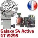 Samsung Galaxy S4 Activ i9295 S Dorés Memoire Qualité Nappe Carte GT Contacts Lecteur Connector SIM Connecteur ORIGINAL Micro-SD Reader