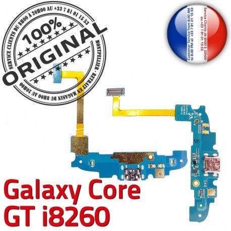 Samsung Galaxy Core GT i8260 C Connecteur Microphone MicroUSB Prise RESEAU ORIGINAL OFFICIELLE Chargeur Nappe Antenne Qualité Charge