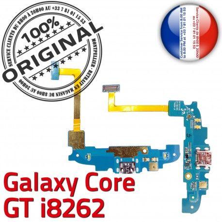 Samsung Galaxy Core GT i8262 C Nappe Chargeur Antenne MicroUSB Charge RESEAU Prise OFFICIELLE Connecteur Qualité Microphone ORIGINAL