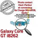 Samsung Galaxy Core GT i8262 C Nappe Prise Qualité Charge ORIGINAL Connecteur RESEAU MicroUSB Chargeur OFFICIELLE Antenne Microphone