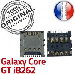 Samsung Connecteur i8262 Carte GT Lecteur SLOT Pins Galaxy Reader Contacts S Card Core Connector à souder ORIGINAL Dorés SIM