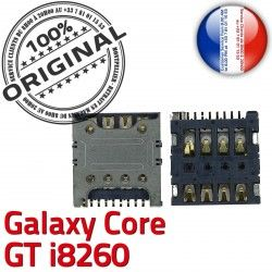 Galaxy ORIGINAL Pins Connector Dorés Samsung GT S Core Connecteur Reader à Carte Contacts Lecteur i8260 Card souder SLOT SIM