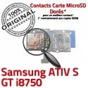 Samsung ATIV S GT i8750 Qualité Connector Carte ORIGINAL Memoire Contacts SIM Micro-SD Dorés Connecteur Reader Lecteur Nappe